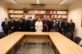 Pope Francis visit to Pontifical Council for New Evangelization